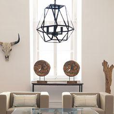 """Atelier - Lampe géométrique suspendue """"lanterne"""" en métal/Lampes suspendues/Luminaires/Magasinez par produit/ATELIER Bouclair Bouclair.com"""