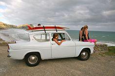 Girls checking surf See The Sun, Surfs Up, Playground, New Zealand, Surfing, Paradise, Girls, Children Playground, Toddler Girls