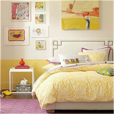 Key Interiors by Shinay: Vintage Style Teen Girls Bedroom Ideas Instead put either green or pink as top wall color and then brown bottom