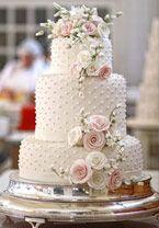 Wedding Cakes : pretty white wedding cake with polka dot details ~ we ❤ this! White Wedding Cakes, Elegant Wedding Cakes, Beautiful Wedding Cakes, Gorgeous Cakes, Wedding Cake Designs, Pretty Cakes, Cake Wedding, Wedding Cake Inspiration, Wedding Ideas