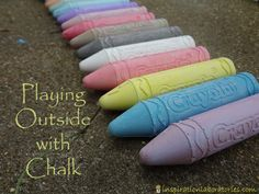 Over 40 ideas for playing outside with chalk!