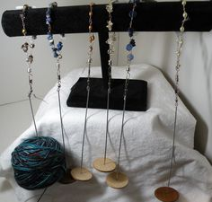 Lovely unique wrist distaffs for kniting and spinning. $42.00, via Etsy. Spinning Yarn, Hand Spinning, Drop Spindle, Plant Fibres, Loom Knitting, Fiber Art, Weaving, Crafty, Tools