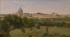 Corot, View of Rome from Monte Pincio. Minneapolis Institute of Art  https://www.facebook.com/photo.php?fbid=1208802035797677