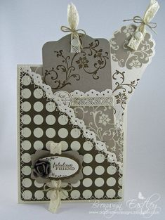 JAI 92 - Double Pocket Card  with Tags    The challenge this week at  Just Add Ink  is to ... add a tag or a bookmark to your paper craft p...