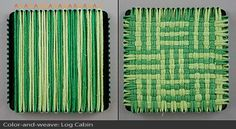 This would be a fun way to experiment with color combos before weaving on my Cricket loom!