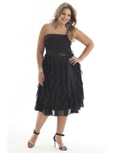 702327d6212 black strapless plus size sexy prom dress004417 Plus Size Cocktail Dresses