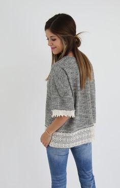 Victoria Lace Sweater