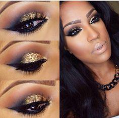 Instagram: makeupshayla Gold smokey