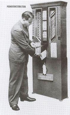 """Old, Weird Tech: The Penguincubator, a Book Vending Machine."" Click through for more information."