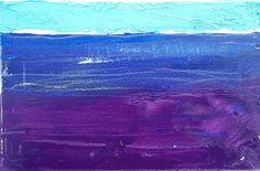 Sebastian Kalota - horyzont fioletowy (akryl) #painting #obraz #akryl #grafika #malarstwo #fiolet #horyzont #pejzaż