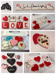 Valentines Day cookies.