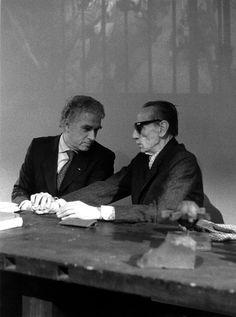1984. Con Eduardo De Filippo. Foto Luigi Ciminaghi/Archivio Piccolo Teatro di Milano