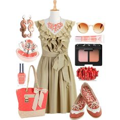 """""""Coral Heaven"""" by mrsleflore on Polyvore"""