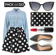 """""""Pack and Go: Tokyo, Part I"""" by minchu ❤ liked on Polyvore featuring WithChic, Fendi, J.Crew, MAC Cosmetics, Comme des Garçons, tokyo and Packandgo"""