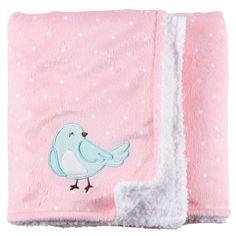 Baby Girl Bird Appliqué Blanket   Carters Oshkosh Canada