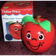 Fisher-Price HAPPY APPLE - had weighted bottom and made a chiming sound.