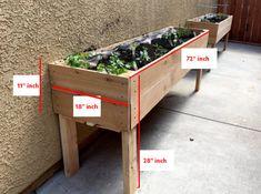 Elevated Planter Box, Raised Garden Planters, Elevated Garden Beds, Raised Planter Boxes, Pallet Planter Box, Planter Beds, Garden Planter Boxes, Building A Raised Garden, Herb Planters