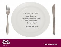 Oscar Wilde as we all know was a poet, playwright, and famed English wit as well as an expert in food and wine. He also wrote some unforgettable food quotes, such as; Food Quotes, Oscar Wilde, Dinner Table, Pie Dish, Wine Recipes, Decorative Plates, Dining, Dinner Party Table, Dinner