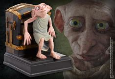 Dobby Bookend at noblecollection.com Dobby Harry Potter, La Saga Harry Potter, Harry Potter Merchandise, Harry Potter Room, Noble Collection Harry Potter, Movie Props, Hades, Hogwarts, Bookends