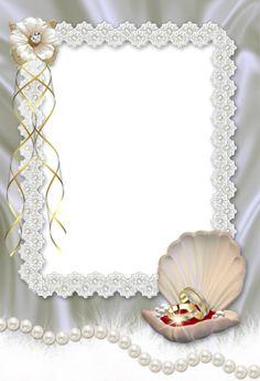 Image du Blog gifette.centerblog.net Blank Wedding Invitations, Engagement Invitation Cards, Wedding Invitation Background, Engagement Cards, Engagement Frames, Wedding Paper, Wedding Cards, Diy Wedding, Wedding Borders