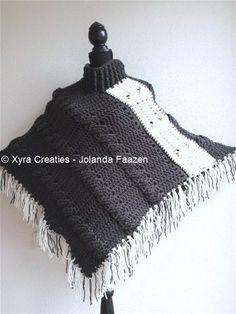 #PATR1041 #Omslagdoek #sjaal #haakpatroon #patroon #haken #gehaakt #crochet #pattern #scarf #shawl #poncho #DIY #crochetpattern #col #cowl #kabels #cables