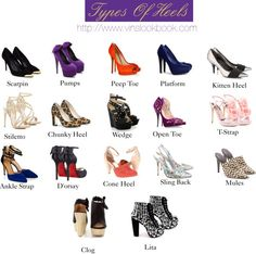 fashion,style,heels,shoes,outfit,Types of heels