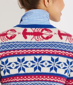 Holiday Sweaters for Women - Lobster Fair Isle Crewneck Sweater - Vineyard Vines