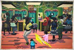Kerry James Marshall's grand barbershop - Google Search