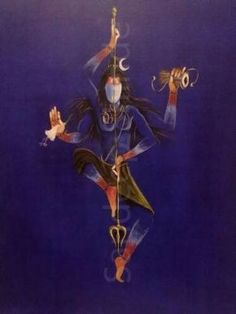 Natraj- Shiva the Great Dancer Painting by sandeep shinde Arte Shiva, Shiva Art, Krishna Art, Hindu Art, Lord Shiva Pics, Lord Shiva Hd Images, Lord Shiva Family, Shiva Shakti, Shiva Yoga