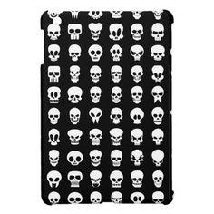 Black and White Halloween Skulls iPad Mini Cover Skull Tattoo Design, Skull Design, Skull Tattoos, Art Tattoos, Skull Stencil, Dibujos Tattoo, Skull Artwork, Flash Art, Halloween Skull