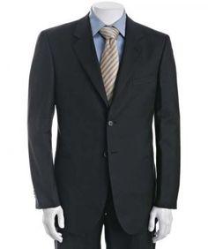Best navy blazer men - www.myLusciousLife.com - Giorgio-Armani-navy-twill-stripe-wool-2-button-suit.jpg