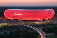 Of all things, our half spaniard team member Pedro is a Bayern Munich fan. The photograph shows the home stadium of his favorite team: The Allianz Arena. Even for non-football fans this is worth visiting when being close to Munich. It's incredible parking your car close by and walking towards this impressive sports location, especially at night when lights go on and in our opinion make it to the most beautiful stadium worldwide.
