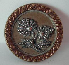antique french metal button