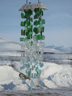 sea glass wind chimes | Sea Glass Wind Chime | Outdoor and patio