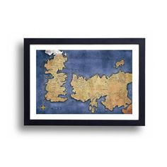 Game of Thrones Map of Westeros and Essos. 11x17 print. $16.00 TheGreenDragonInn
