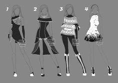 [1/4+open]+Auction+Adopt+BW+Outfit+2+by+YuiChi-tyan.deviantart.com+on+@DeviantArt