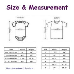 cute tee tee © marobee: Baby Tee & Romper: Size, Measurement and Colour ChartStep 2 : Pick the size of a romper or tee for your baby ** Romper size 0 - 3 months is temporary out of stock.Discover recipes, home ideas, style inspiration and other ideas to Baby Romper Pattern, Baby Dress Patterns, Baby Clothes Patterns, Kids Patterns, Baby Size Chart Clothes, Sewing Patterns, Baby Sewing Projects, Sewing For Kids, Crochet Romper