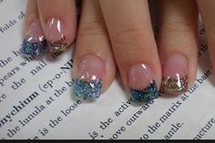 Nails For the ladies that like glitter and a French this is for ya :)