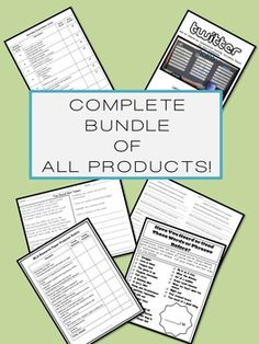 COMPLETE BUNDLE of ALL English Language Arts PRODUCTS! More than $60 worth of materials for over 50% off!