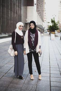 modeststreetfashion:  Farah Jay & Heba Jay | Detroit, Michigan U.S.A. #ModestStreetFashion By: Langston Hues