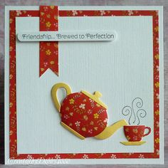 A Scrapjourney: Time for a Brew...use for placemats, table runner or kitchen curtains.
