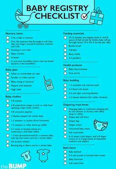 Ultimate Baby Registry Checklist Nursery Baby Registry