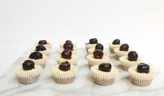 Mini Cherry Cheesecake Bites – Simple Mills - add blueberries for a festive touch! | Gluten-free | REAL FOOD