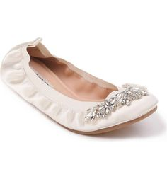 68902180743 Elegant ballet flats for the practical and comfy bride Comfy Wedding Shoes