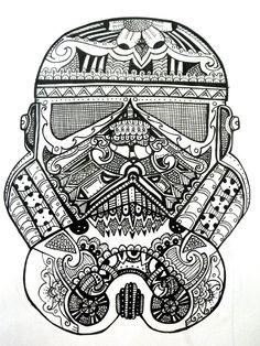 Stormtrooper Sugar Skull by ~RoseRed66 on deviantART