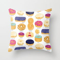 A pillow that will make you hungry. | 36 Insanely Awesome Things Under $40 You Need For Your Bedroom
