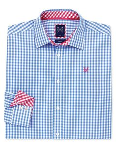 Buy our Men's Crew Classic Gingham Shirt for £55 available in Sky at Crew Clothing. For more shirts, visit Crew Clothing.