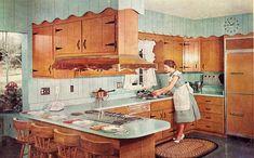 vintage kitchen1950s, #homemaker