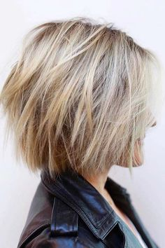 Cheveux Choppy Bob, Bob blonde Balayage Layered