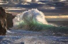 Dramatic fast-frame photographs show ice-cold sea crashing against Italian shoreline The images were taken by Italian photographer Giovanni Allievi, on a No Wave, Giant Waves, Huge Waves, Frozen Waves, Sea Storm, Amazing Nature Photos, Beautiful Pictures, Rough Seas, Crashing Waves